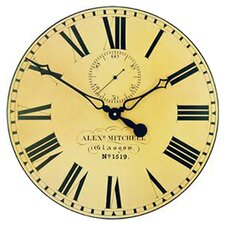 Large Station Wall Clock with Seconds Hand