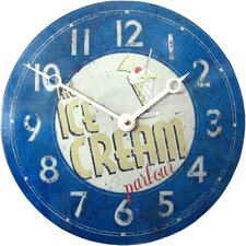Convex Tin Ice Cream Parlour Wall Clock