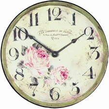 Large Florist Wall Clock
