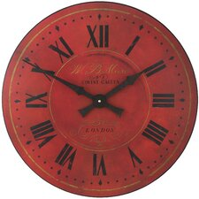 Warm Red London Dial Wall Clock