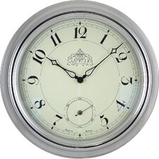 Chrome Wall Clock with Second Hand