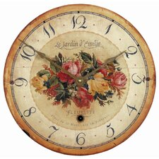 Emilie Rose Wall Clock