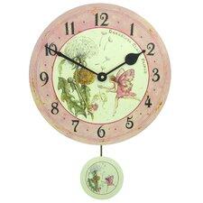 Dandelion Fairy Pendulum Wall Clock