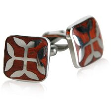 <strong>Cuff-Daddy</strong> Ornate Wood Links Cufflinks