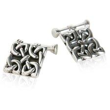 Celtic Knot Cufflinks in Sterling Silver
