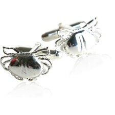 Sterling Silver Crab Cufflinks