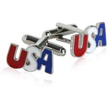 Patriotic USA Cufflinks in Silver