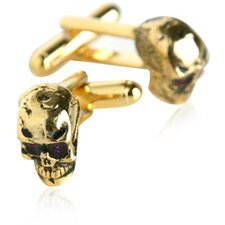 Skull Cufflinks in Gold