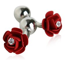 Rose Cufflinks with Crystal