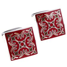 Details Cufflinks in Red / Brown