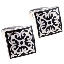 Elegant Cufflinks in Black / White