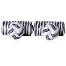 Silk Knots Cufflinks in Silver Gray
