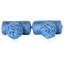 Silk Knots Cufflinks in Steel Blue