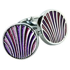 Peacock Cufflinks in Pink / Purple / Red