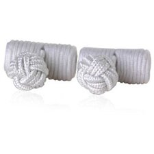 Knots Cufflinks in White