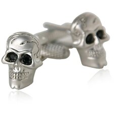 <strong>Cuff-Daddy</strong> Skull Cufflinks with Crystal Eyes