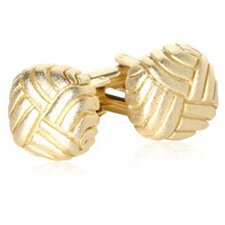 Matte Swirled Cufflinks in Gold