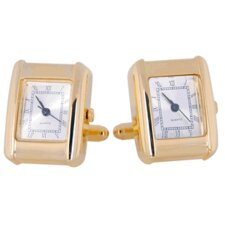 <strong>Cuff-Daddy</strong> Elegant Gold Watch Cufflinks