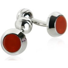 Simple Orange Cufflinks