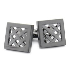 Gunmetal Lattice Cufflinks