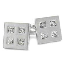 Silvertone Four Square Cufflinks