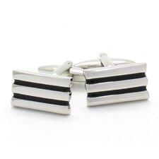 Silvertone Lined Cufflinks