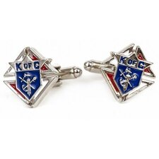 <strong>Cuff-Daddy</strong> Silvertone Knights of Columbus Cufflinks