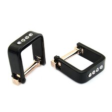 Square Wrap Crystal Cufflinks