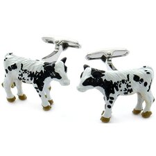 <strong>Cuff-Daddy</strong> Swarovski Crystal Cow Cufflinks