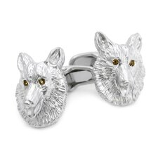 Swarovski Crystal Collie Cufflinks