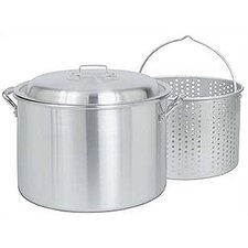 20 Quart Aluminum Stockpot with Basket