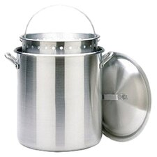 Aluminum Stockpot with Lid and Basket