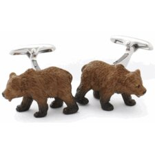 Animal Bear Cufflinks