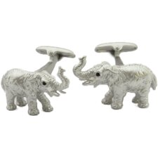 Elephant Cufflinks in Silver