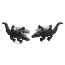 Alligator Cufflinks with Crystal Eyes