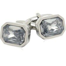 Austrian Shimmering Crystal Cufflinks in Clear