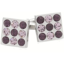 Crystal Bingo Board Cufflinks in Amethyst (Set of 2)