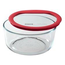 Premium Glass Lids 7 Cup Round Storage Dish