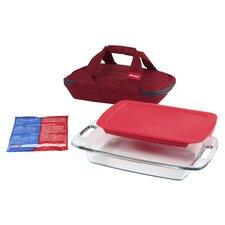 Portables 4 Piece Easy Grab Storage Container Set