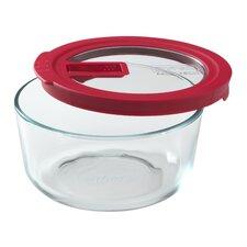 No Leak Lids 4-Cup Round Storage Dish