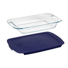<strong>Pyrex</strong> Easy Grab 3 Qt. Oblong Baking Dish with Plastic Cover