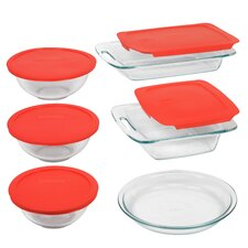 <strong>Pyrex</strong> Easy Grab 11 Piece Bakeware Set with Plastic Cover