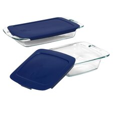 <strong>Pyrex</strong> Easy Grab 4 Piece Bakeware Set with Plastic Cover