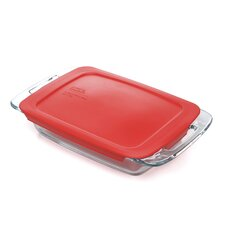 <strong>Pyrex</strong> Easy Grab 2 Qt. Oblong Baking Dish with Plastic Cover