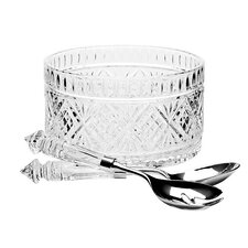 3 Piece Dublin Crystal Salad Server Set