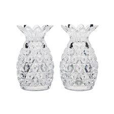 2 Piece Pineapple Salt and Pepper Shaker Set