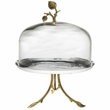 2 Piece Arboria Cake Stand and Dome Set