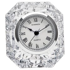 <strong>Godinger Silver Art Co</strong> Dublin Crystal Table Clock I