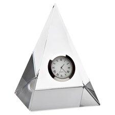 Pyramid Crystal Table Clock