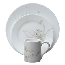 Impressions White Flower 16 Piece Dinnerware Set